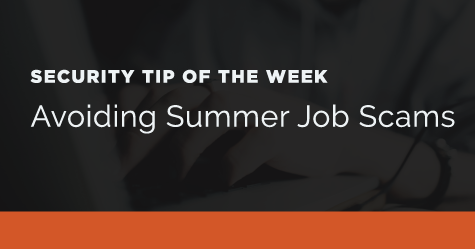 How to avoid summer job scams